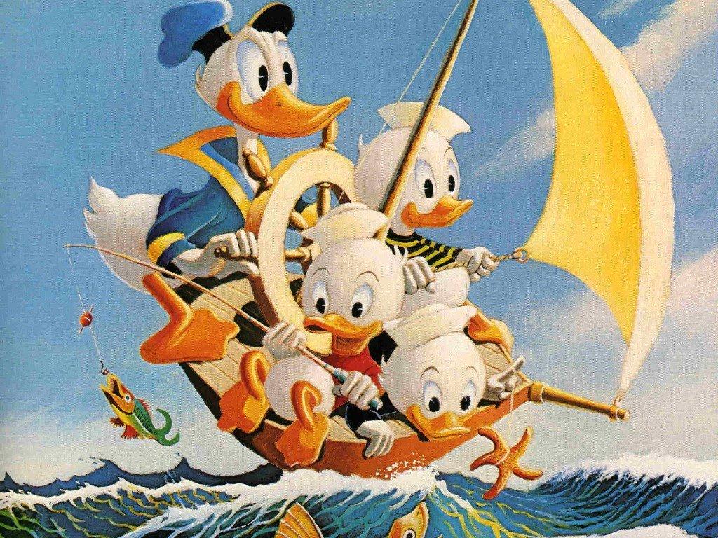 Cartoons Wallpaper: Carl Barks - Sailing Ducks