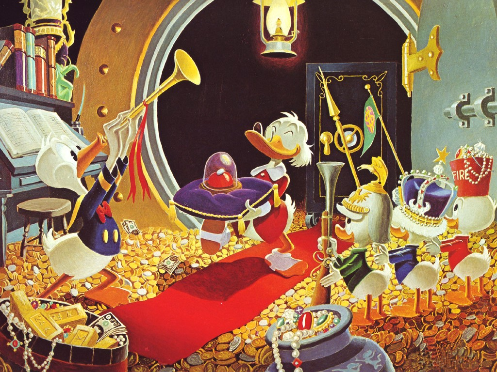 Cartoons Wallpaper: Uncle Scrooge (by Carl Barks)
