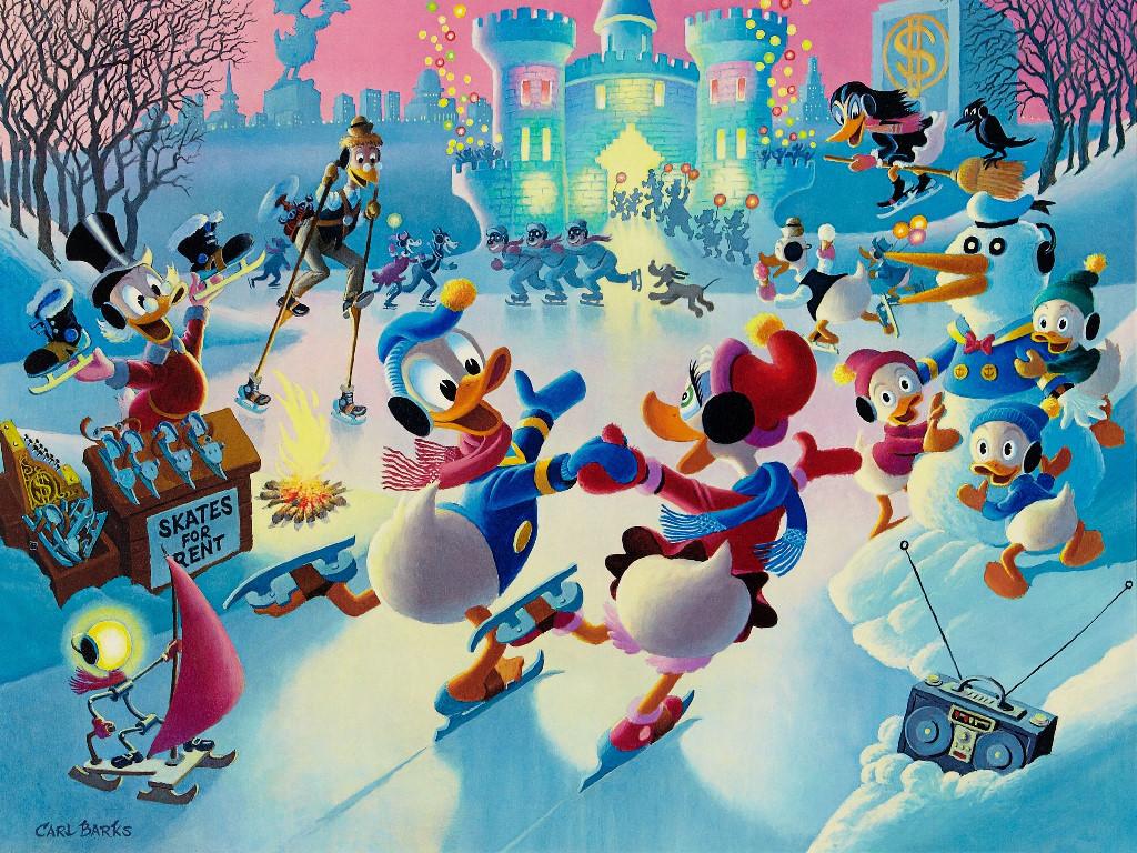 Cartoons Wallpaper: Duckburg - Skating