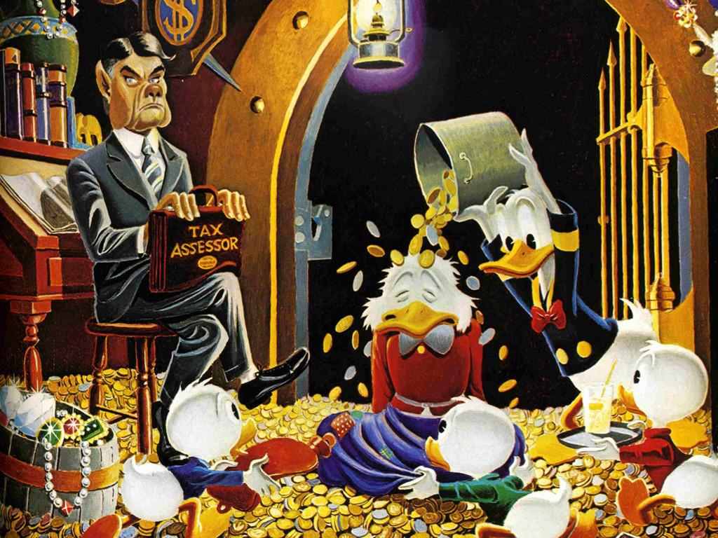 Cartoons Wallpaper: Carl Barks - Tax Collector