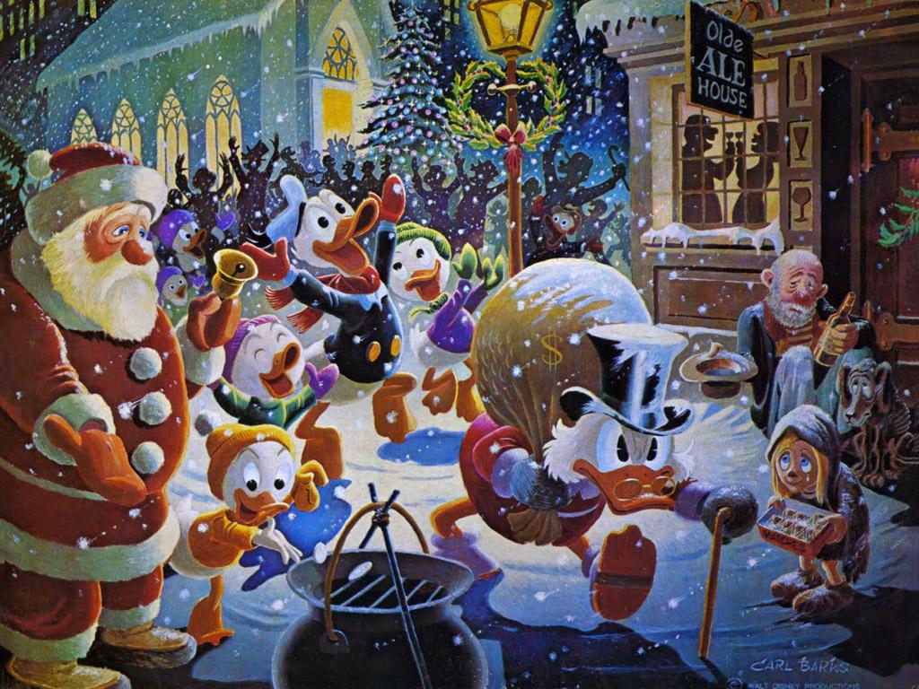 Papel de Parede Gratuito de Desenhos : Tio Patinhas (Natal) - Carl Barks