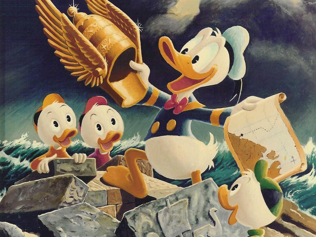 Cartoons Wallpaper: Donald Duck (by Carl Barks) - Viking Helmet
