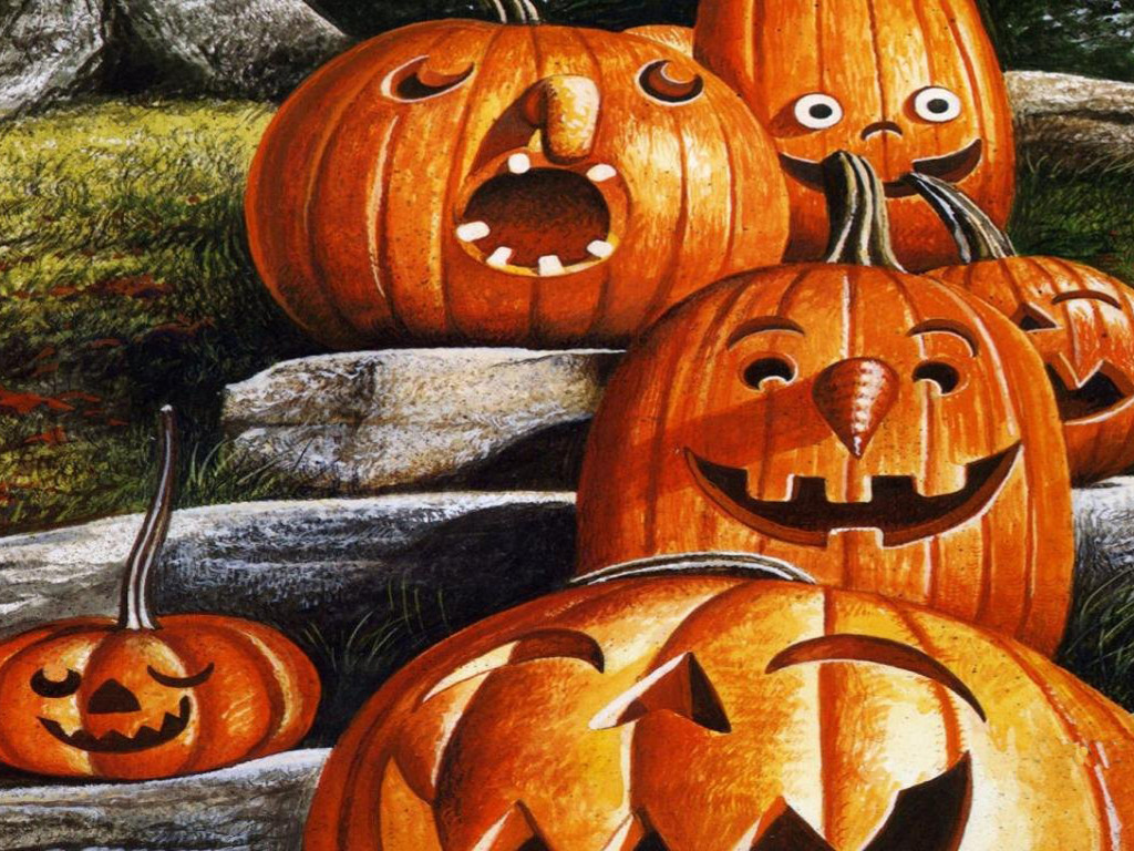 Cartoons Wallpaper: Pumpkins - Halloween