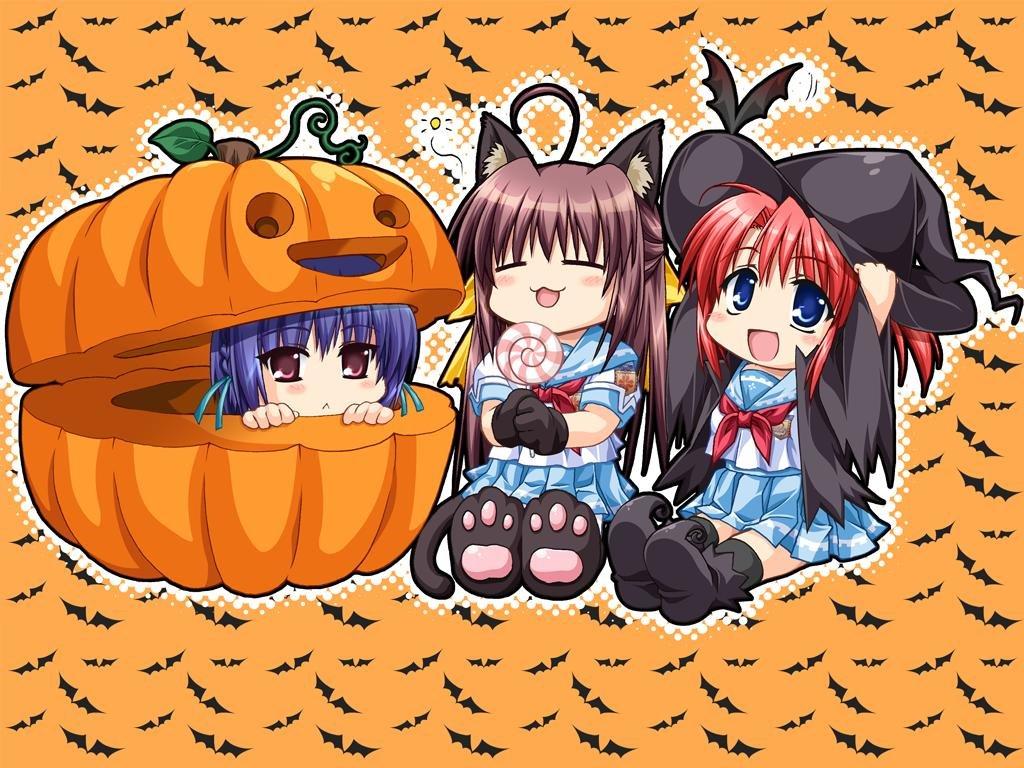Cartoons Wallpaper: Chibi Halloween