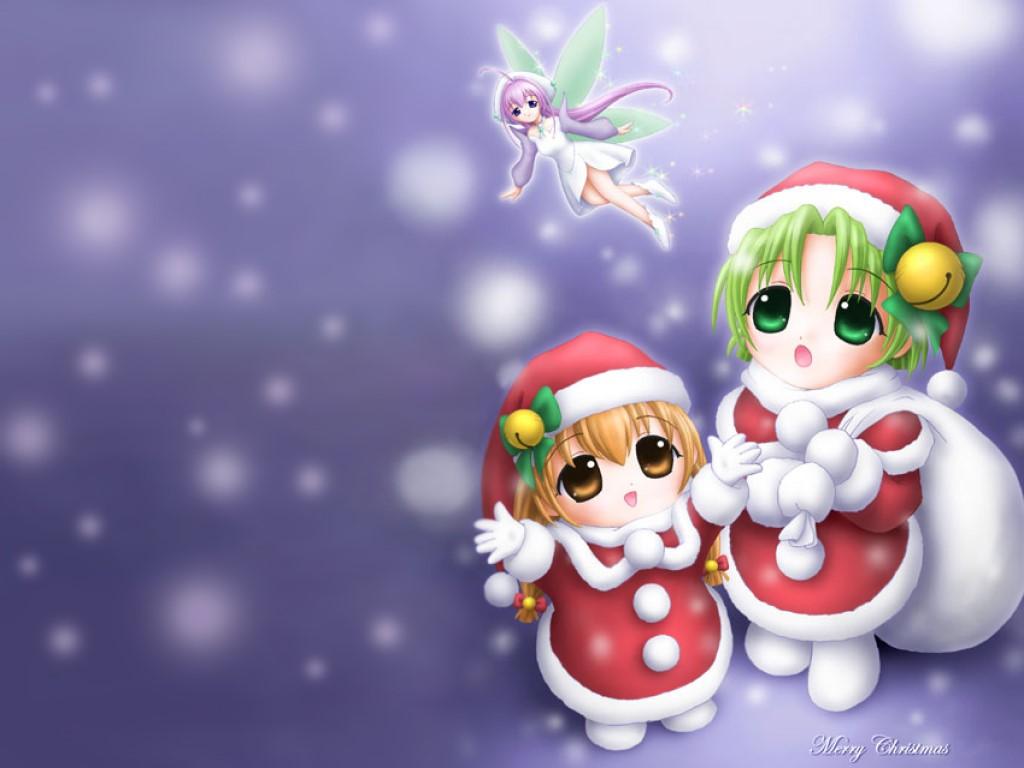 Cartoons Wallpaper: Chibi - Christmas