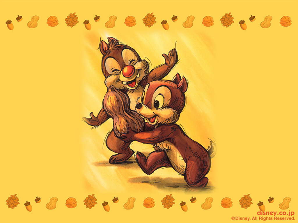 Cartoons Wallpaper: Chip and Dale
