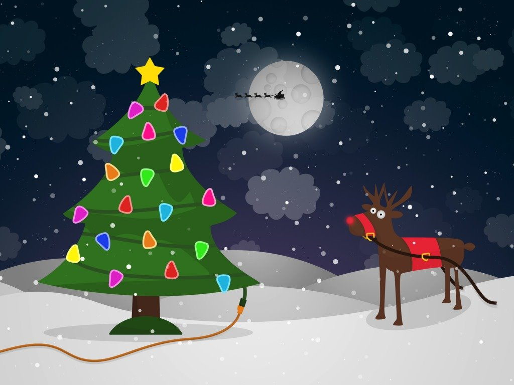 Cartoons Wallpaper: Christmas - Cartoon