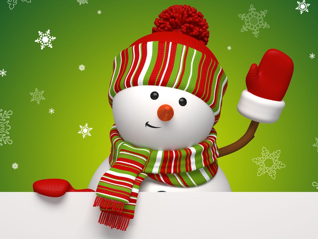 Cartoons Wallpaper: Christmas - Snowman