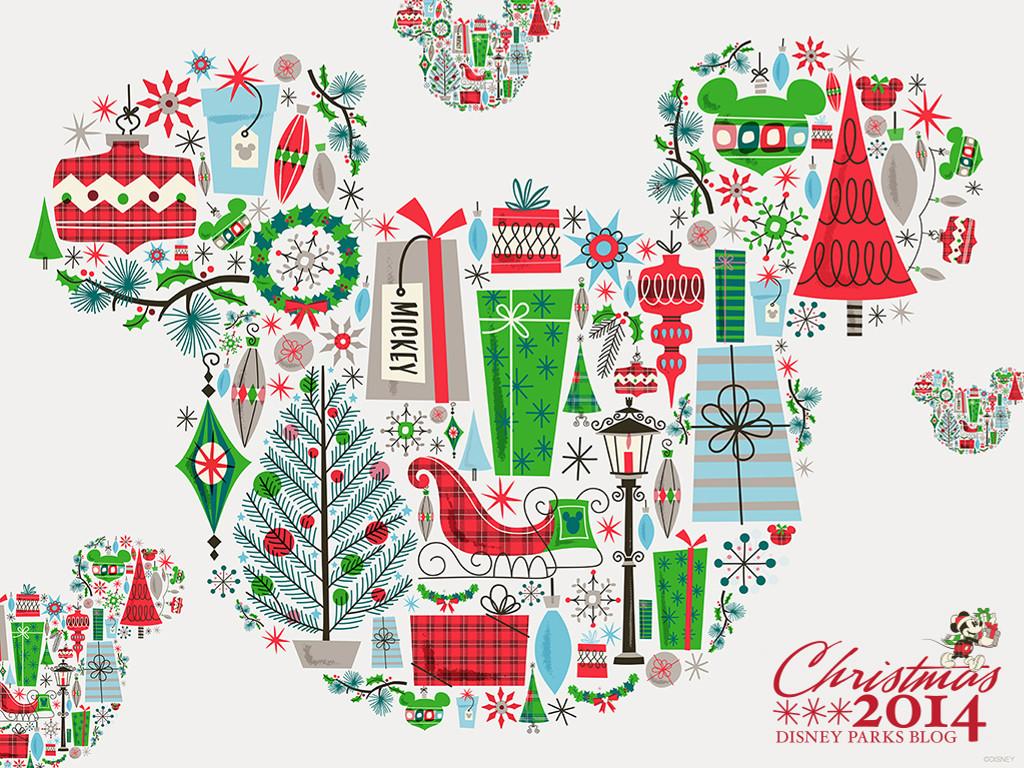 Cartoons Wallpaper: Christmas - Mickey