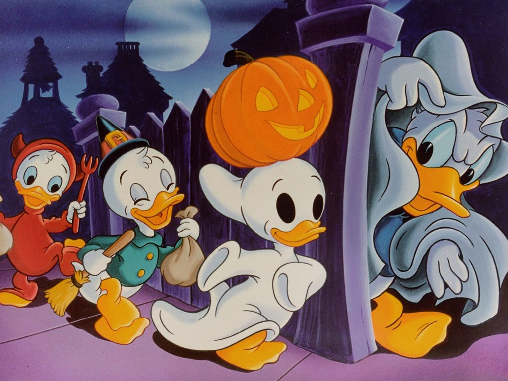 Cartoons Wallpaper: Classic Donald Duck - Halloween