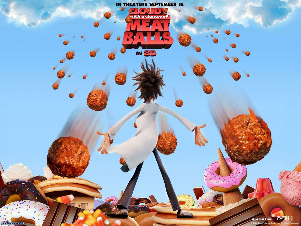 Cartoons Wallpaper: Cloudy with a Chance of Meatballs
