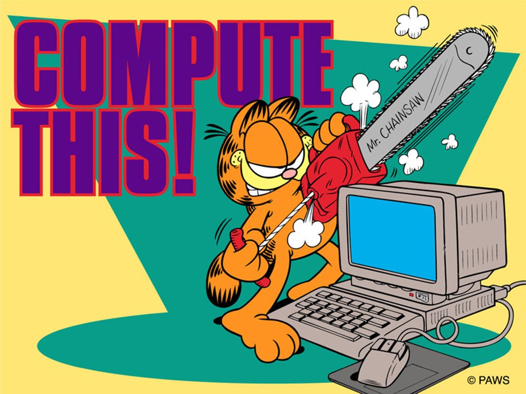 Cartoons Wallpaper: Garfield - Compute This
