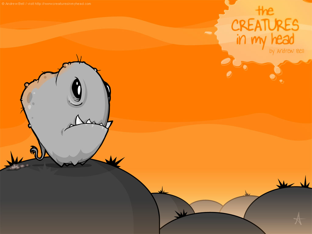 Cartoons Wallpaper: Creatures In My Head