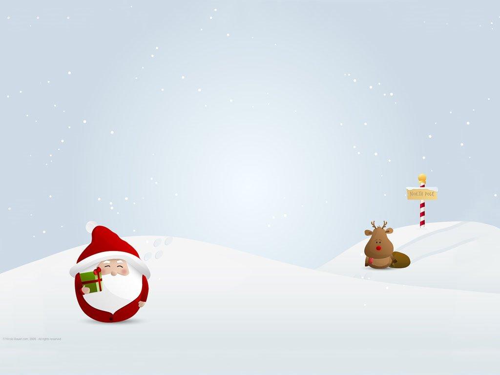 Cartoons Wallpaper: Cute Santa Claus