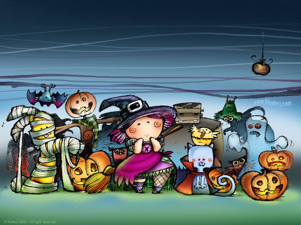 Cartoons Wallpaper: Trick or Treat - Halloween