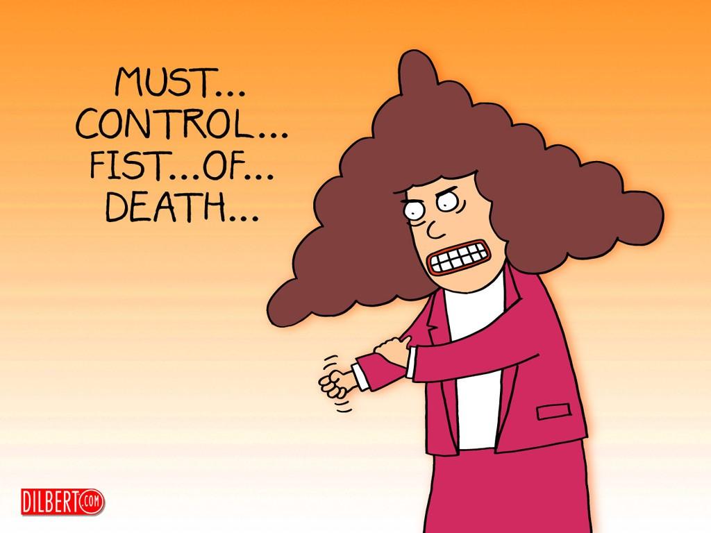 Cartoons Wallpaper: Dilbert - Fist of Death