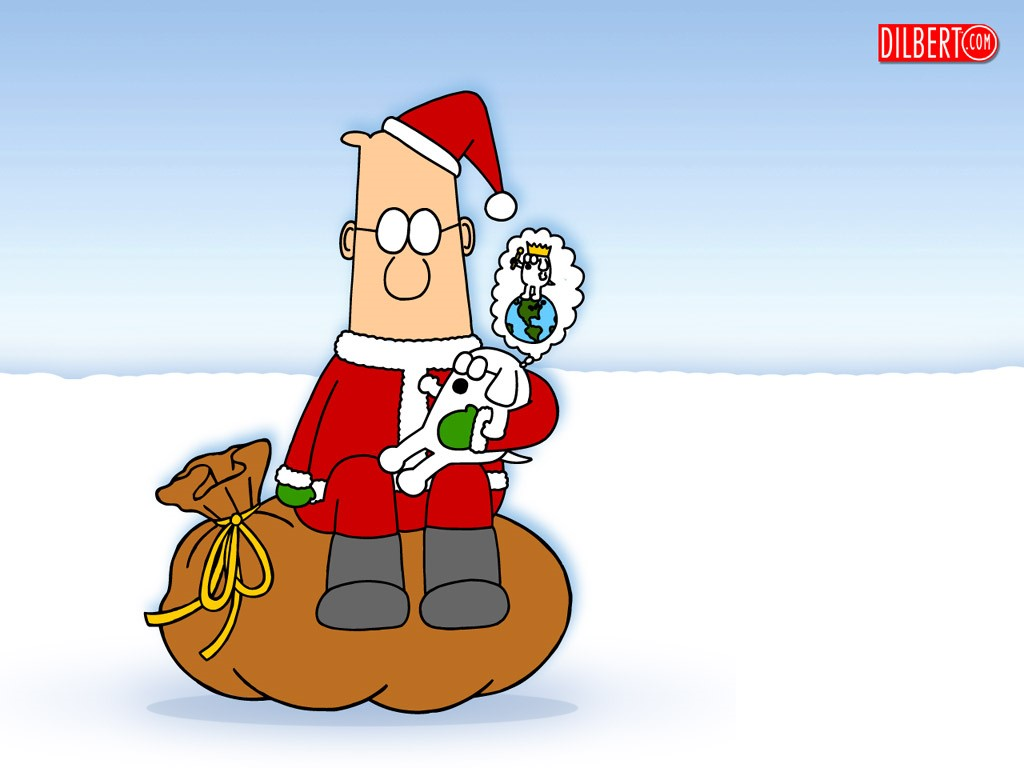 Cartoons Wallpaper: Dilbert - Christmas