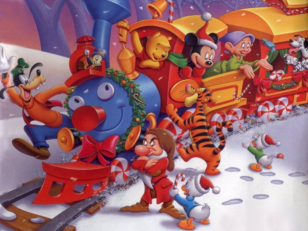 Cartoons Wallpaper: Disney - Christmas Train