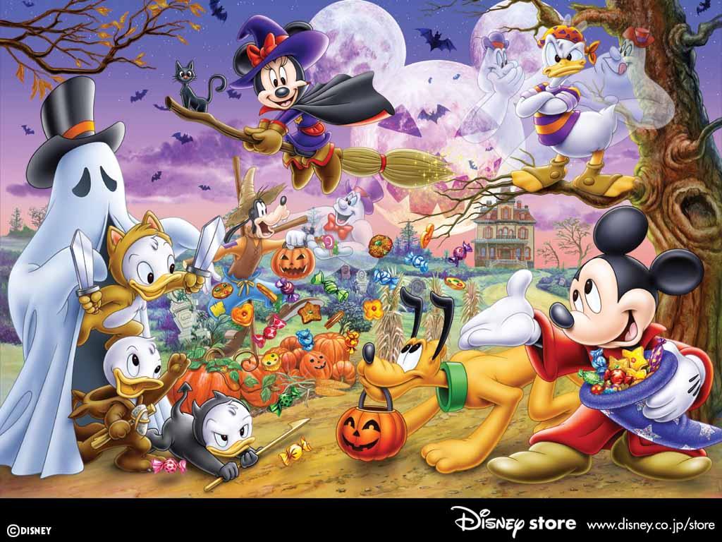 Cartoons Wallpaper: Disney - Halloween