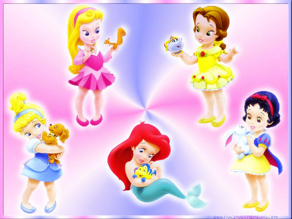 Cartoons Wallpaper: Disney Princess Babies