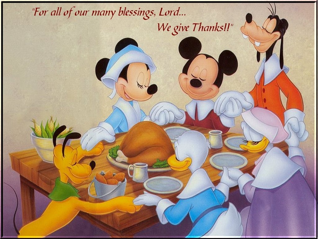 Cartoons Wallpaper: Disney - Thanksgiving