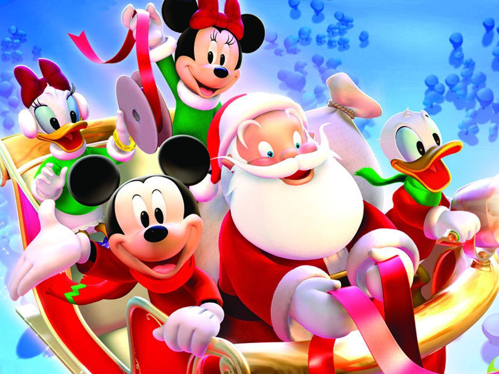 Cartoons Wallpaper: Disney Xmas - 3D
