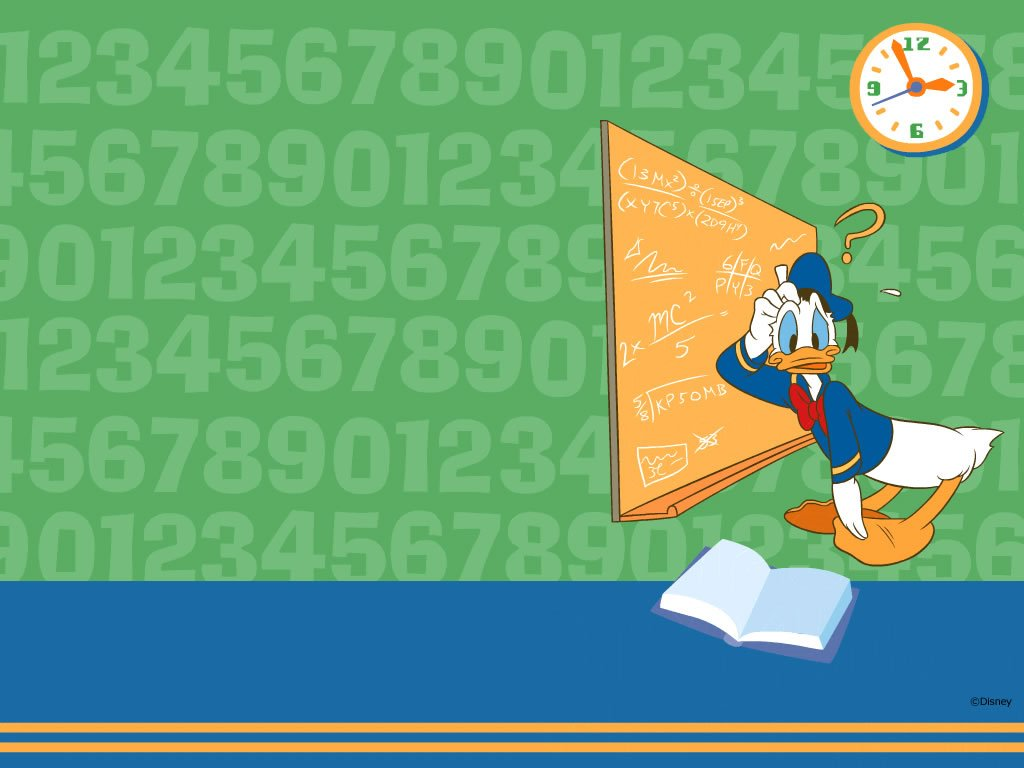 Cartoons Wallpaper: Donald Duck - Math