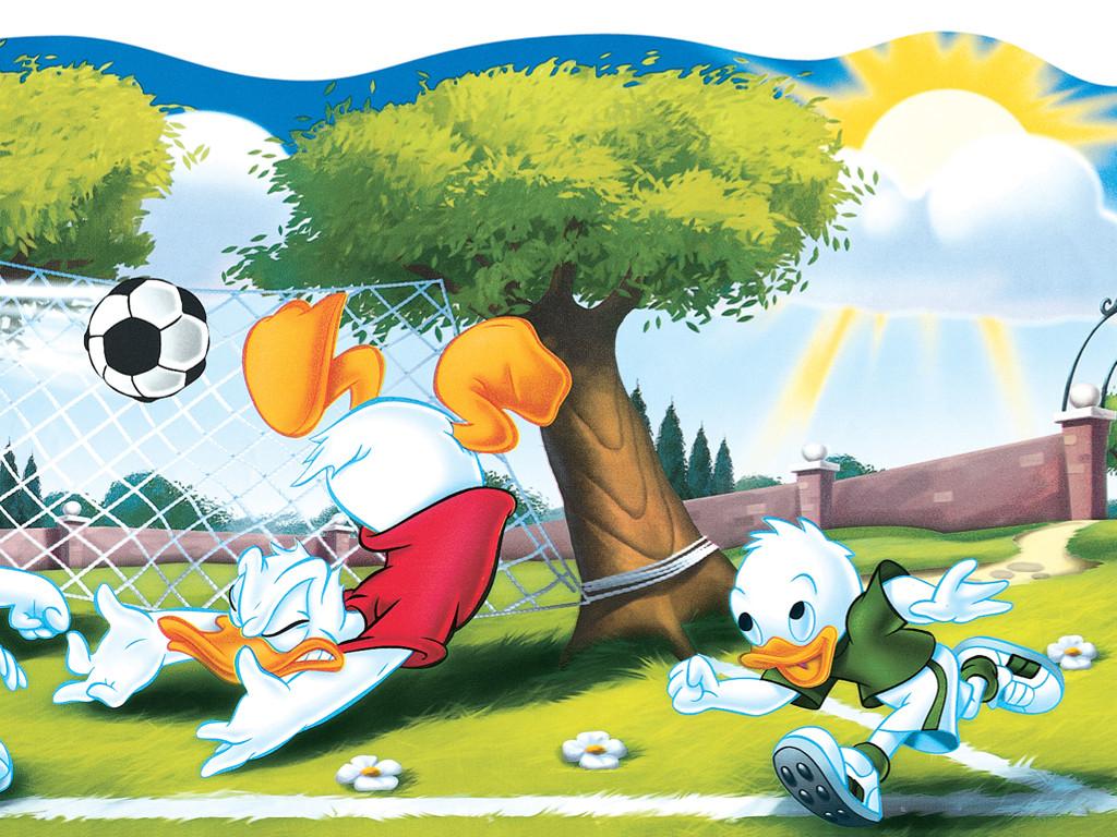 Cartoons Wallpaper: Donald Duck - Soccer
