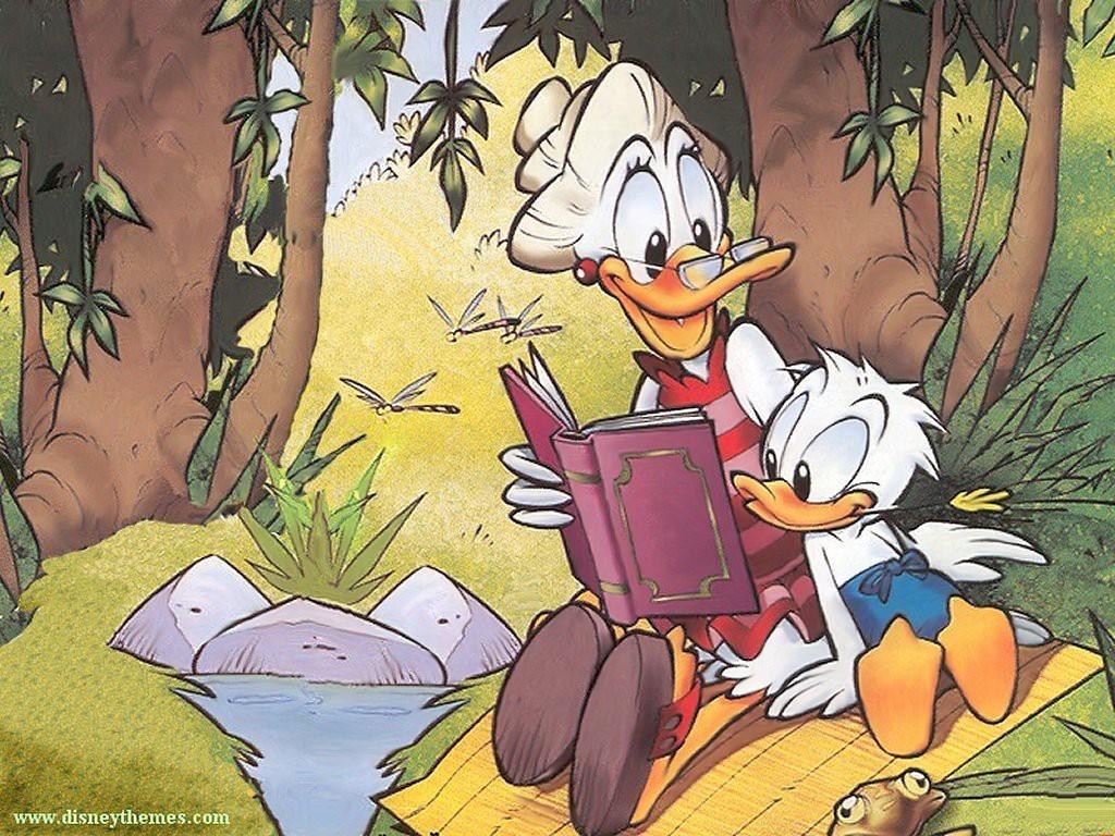 Cartoons Wallpaper: Donald Duck - Story Time
