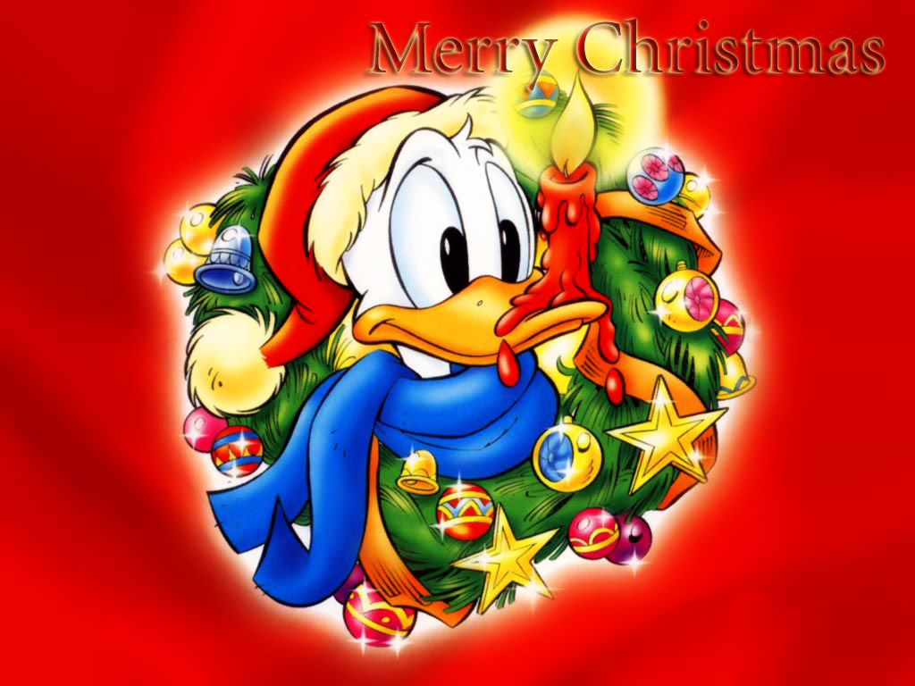 Cartoons Wallpaper: Donald Duck - Xmas
