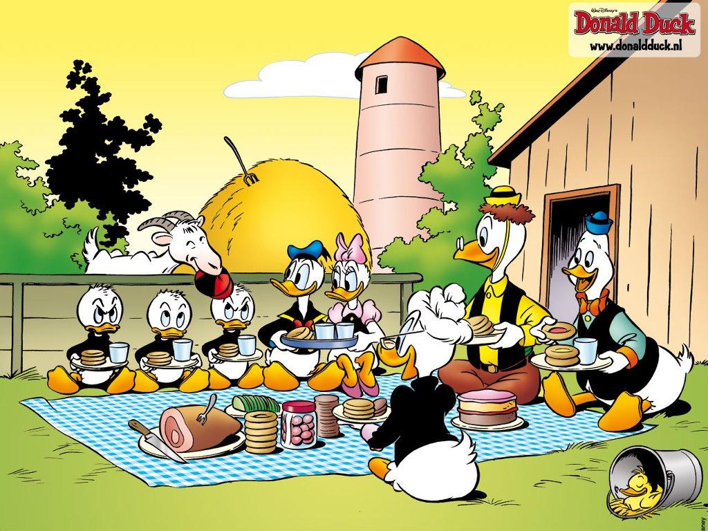Cartoons Wallpaper: Donald Duck - Picnic at Farm