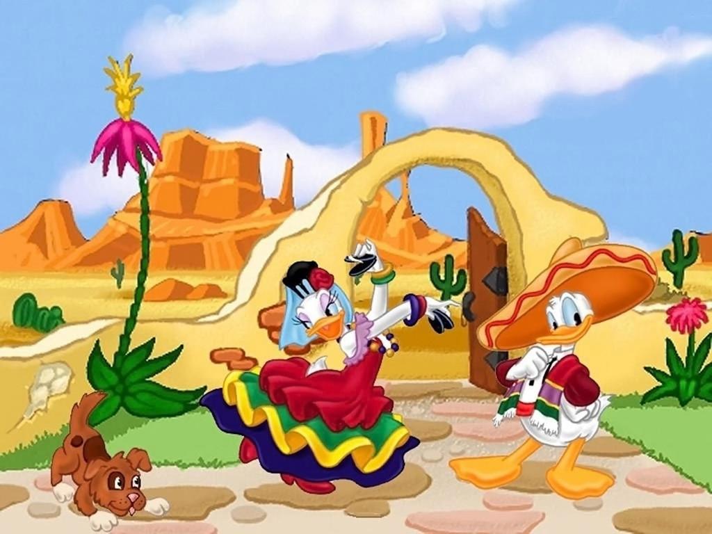 Cartoons Wallpaper: Donald Duck and Daisy - Mariachi