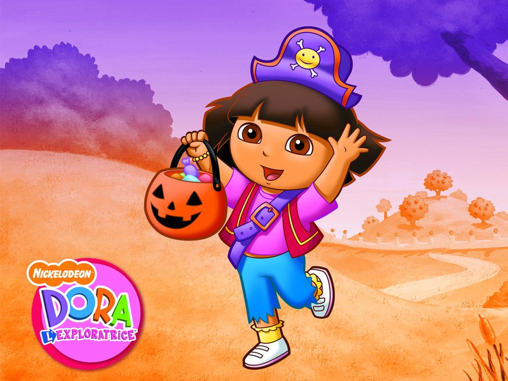 Cartoons Wallpaper: Dora - Halloween