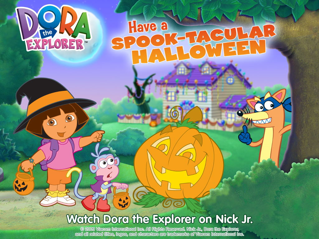 Cartoons Wallpaper: Dora - Halloween