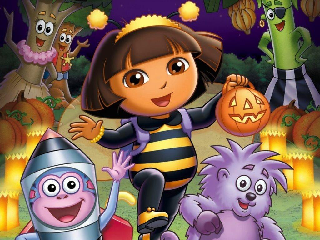 Cartoons Wallpaper: Dora - Halloween Parade