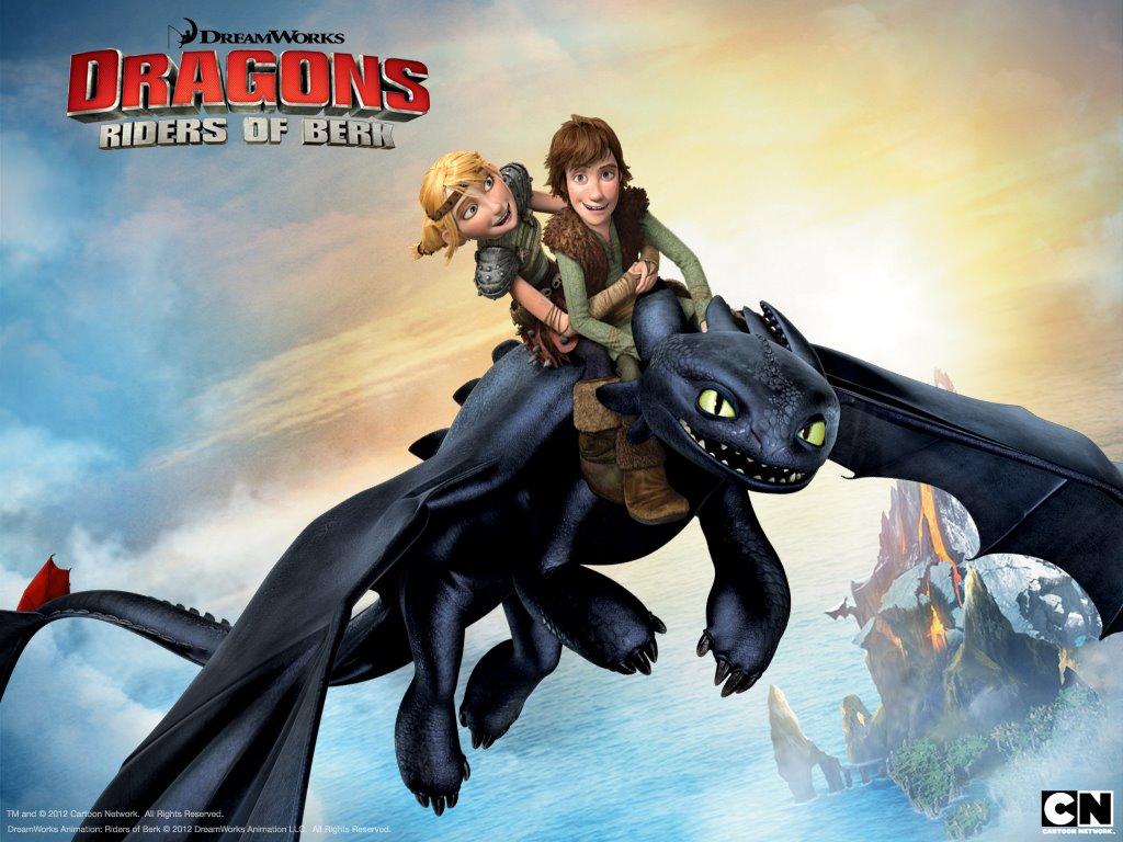 Cartoons Wallpaper: Dragons - Riders of Berk