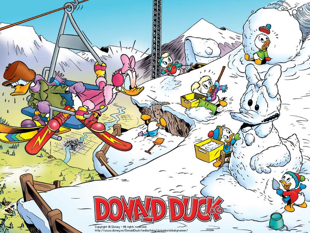 Cartoons Wallpaper: Duckburg - Winter
