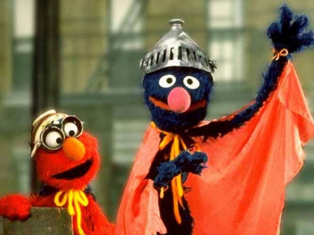 Papel de Parede Gratuito de Desenhos : Elmo e Super-Grover