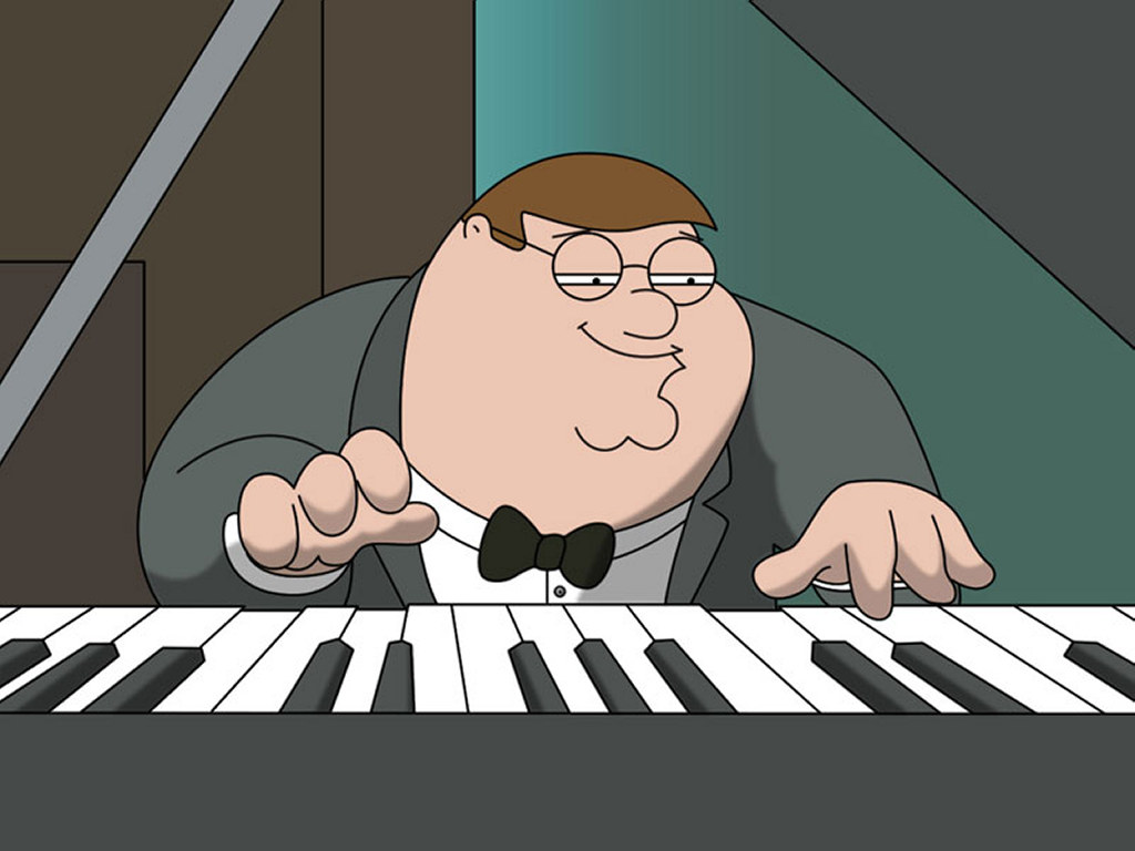 Cartoons Wallpaper: Family Guy - Peter on the Piano