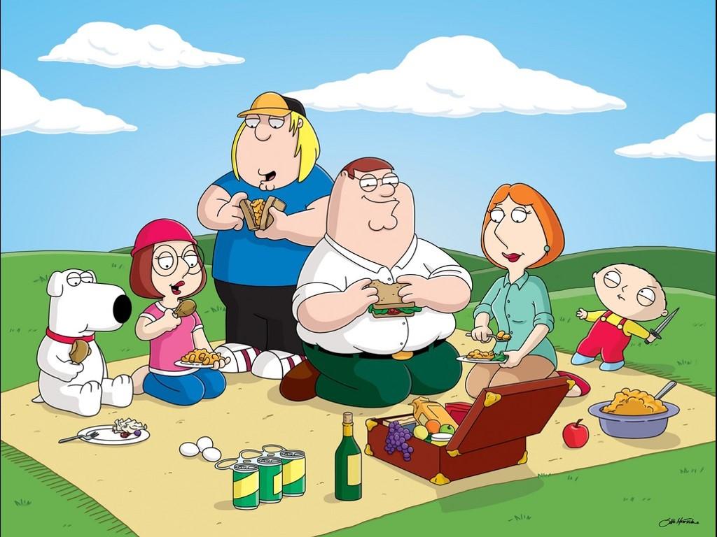 Cartoons Wallpaper: Family Guy - Picnic