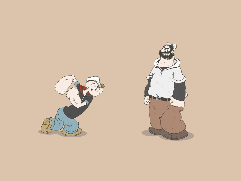 Cartoons Wallpaper: Popeye - The Fight of the Century