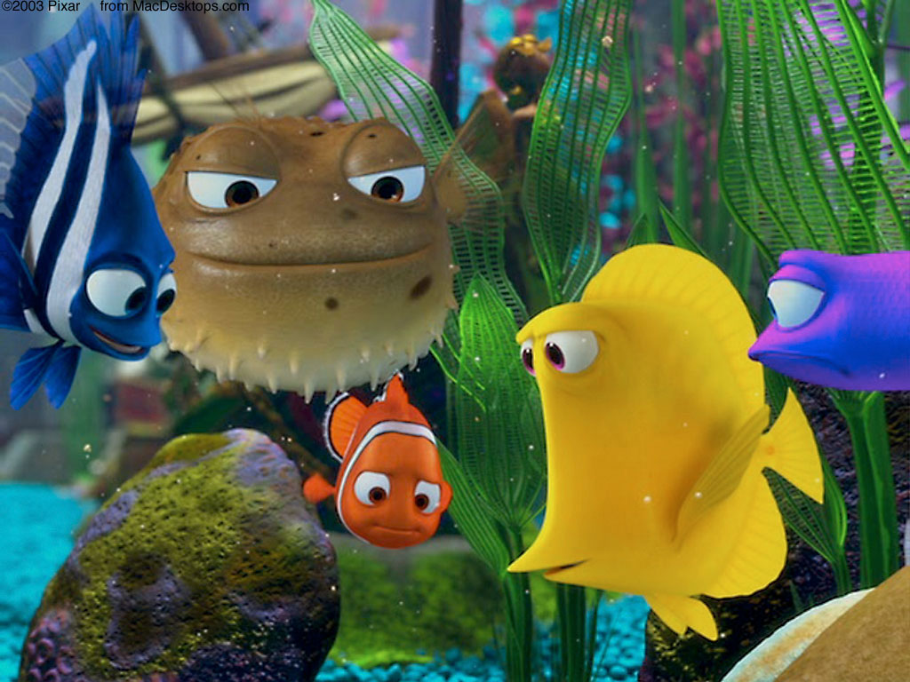 Cartoons Wallpaper: Finding Nemo - The Tank Gang
