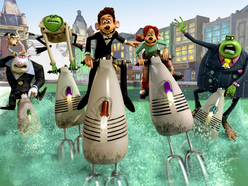 Cartoons Wallpaper: Flushed Away