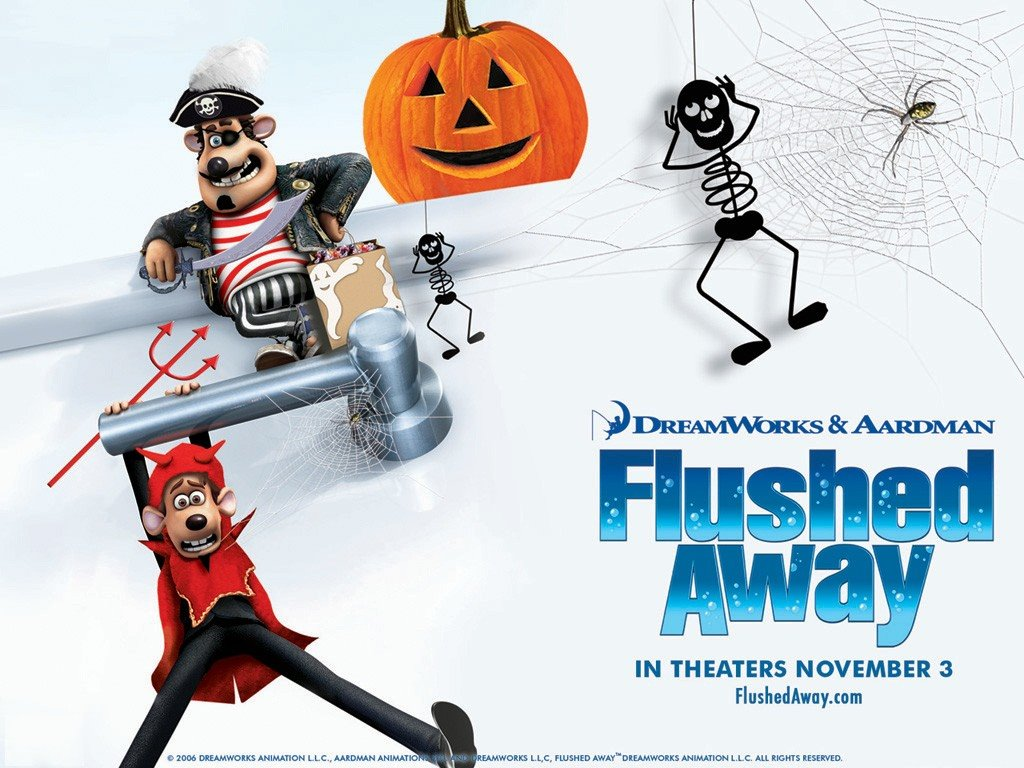 Cartoons Wallpaper: Flushed Away - Halloween