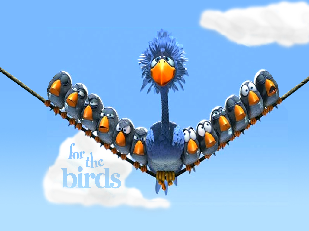 Cartoons Wallpaper: For the Birds
