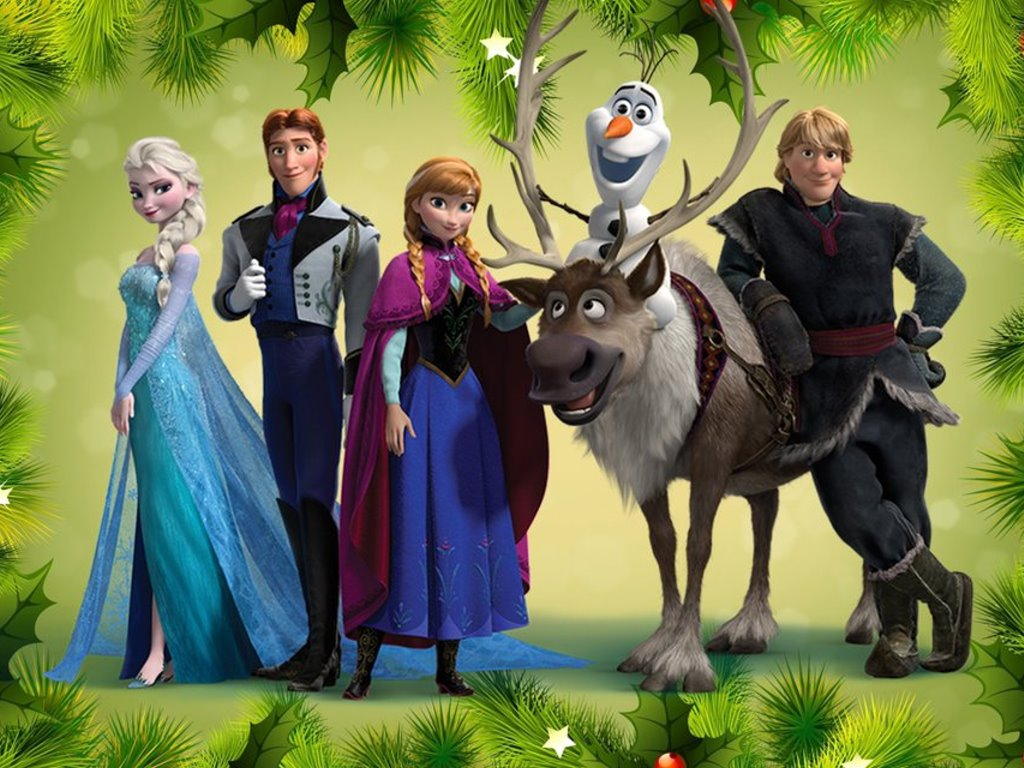 Cartoons Wallpaper: Frozen - Christmas