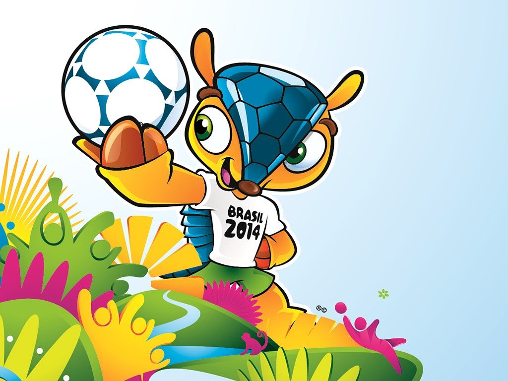 Cartoons Wallpaper: Fuleco - FIFA 2014 World Cup Mascot