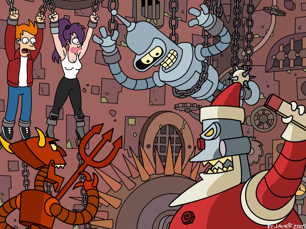 Cartoons Wallpaper: Futurama - Robot Santa