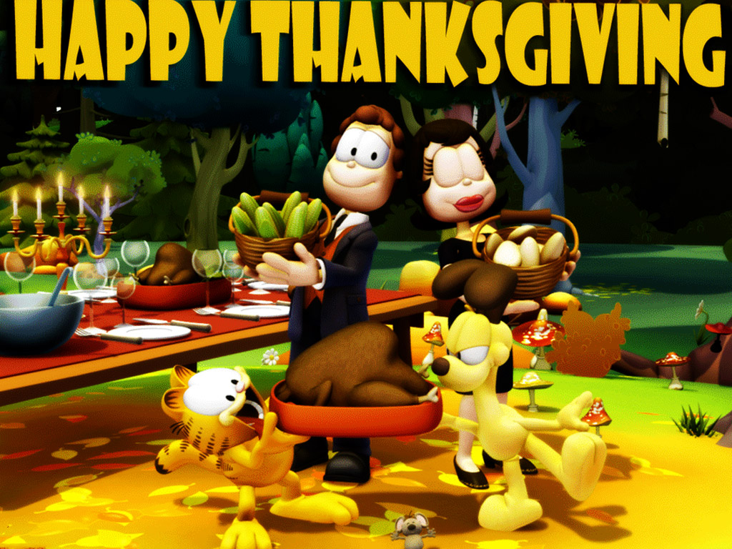 Cartoons Wallpaper: Garfield - Thanksgiving