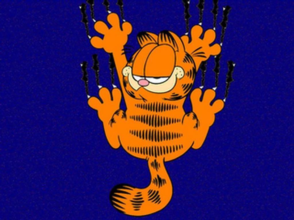 Cartoons Wallpaper: Garfield Scratching Screen